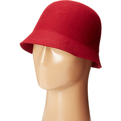 SCALA - Wool Felt Brim Cloche w/ Leather Trim