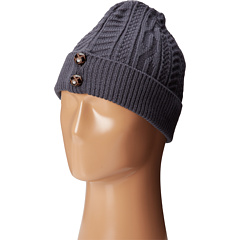 SCALA - Cabel Knit Cap with Cuff and Buttons