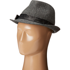 Hat Attack - Tweed Fedora w/ Leather Trim