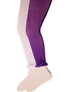 Jefferies Socks - Pima Cotton Ruffle Footless Tights 2-Pack