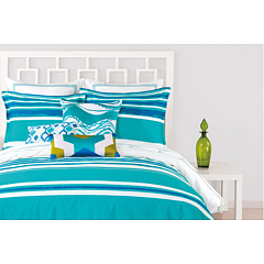 Trina Turk - Horizon Stripe Comforter Set - King