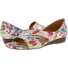 Womens Sandals Naturalizer Jazzy Cream Floral Watercolor Printed Iguana