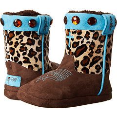 M&F Western - Animal Print w/ Cross Bootie Slippers