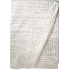 Vince Camuto - Solid Crocodile Quilt Stitch Coverlet - King