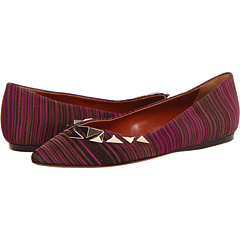 Missoni - Stripe Pattern Pointed Flat with Studs