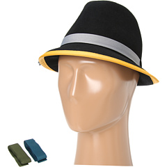 Hat Attack - Bound Edge Wool Fedora w/ 3 Ribbon Bands