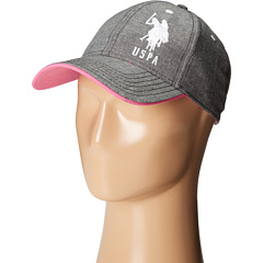 U.S. POLO ASSN. - Chambray Baseball Cap w/ Pop Underbrim