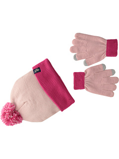 U.S. POLO ASSN. - Two-Tone Cuffed Beanie Touch Glove Set