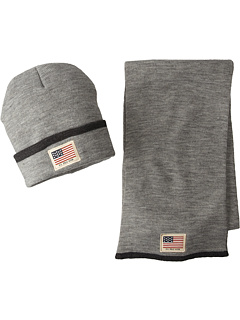 U.S. POLO ASSN. - Cuffed Beanie Scarf Set w/ Printed Canvas Patch
